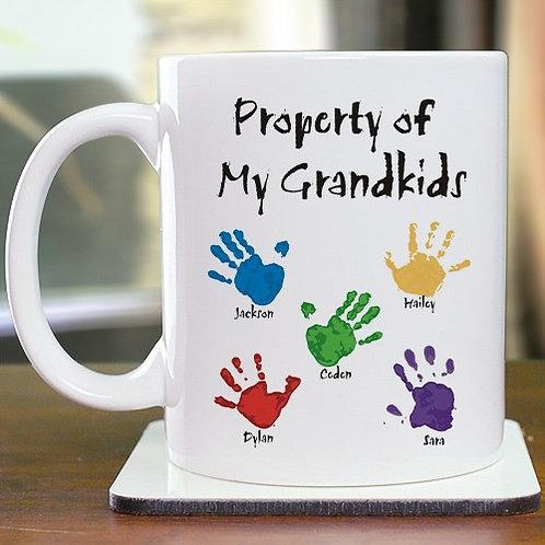 """Property of"" Personalized Custom Coffee Mug"