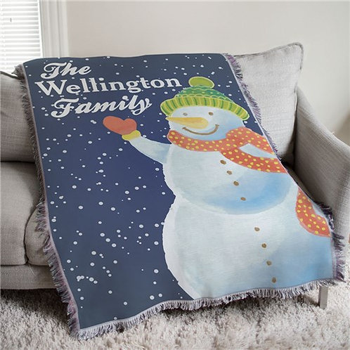 Snowman Tapestry Throw