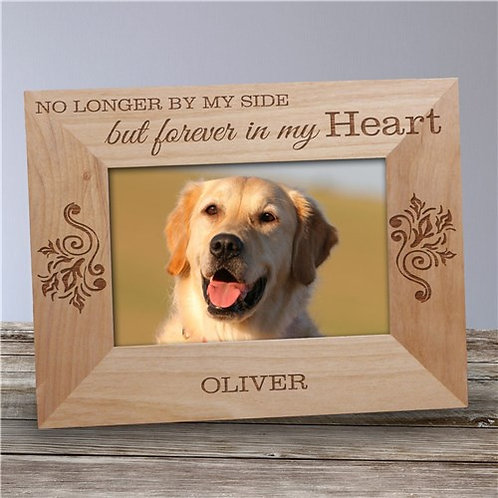 Personalized No Longer By My Side Pet Wooden Picture Frame