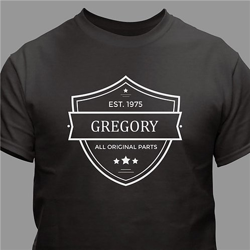 Personalized All Original Parts T-Shirt
