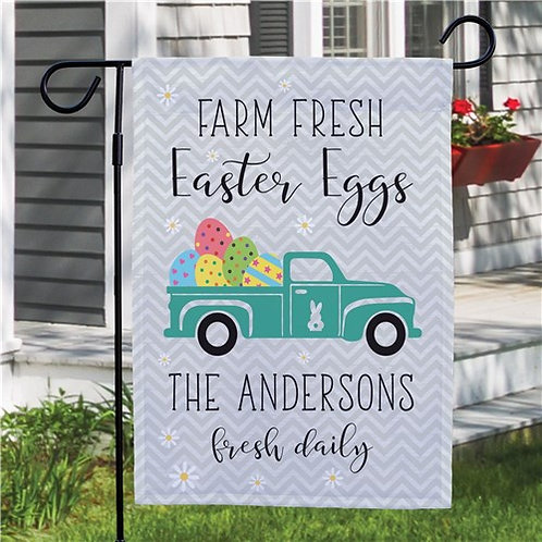 Personalized Farm Fresh Easter Eggs Doormat