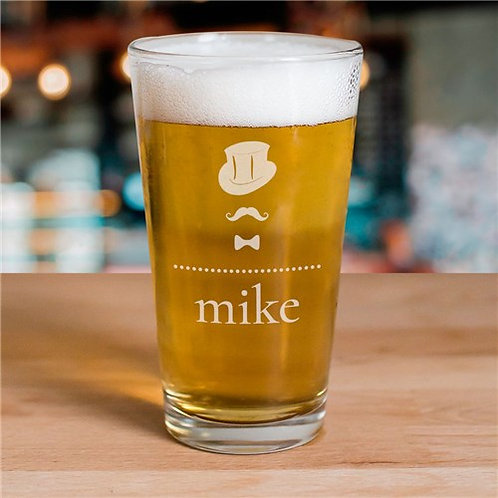 Engraved Groom Beer Glass