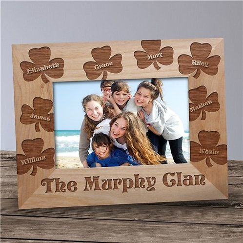 Shamrock Irish Wood Frame