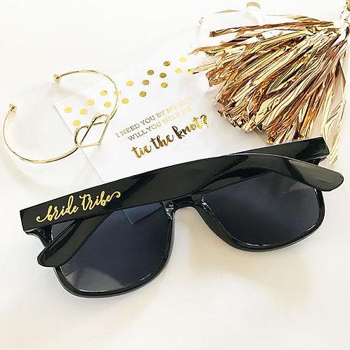 Bridal Party Black Sunglasses