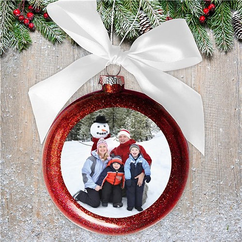 Personalized Photo Glass Ornament