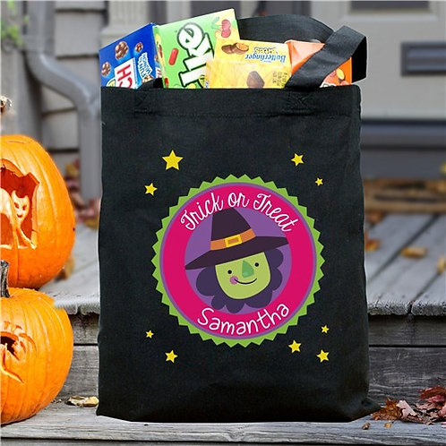 Personalized Trick Or Treat Witch Bag