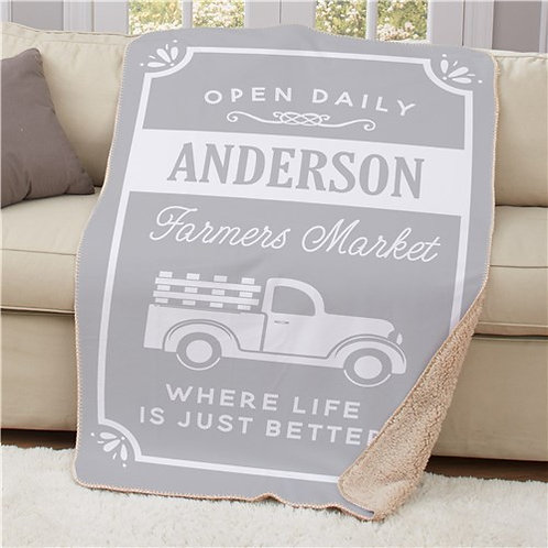 Personalized Where Life is Just Better 50x60 Sherpa