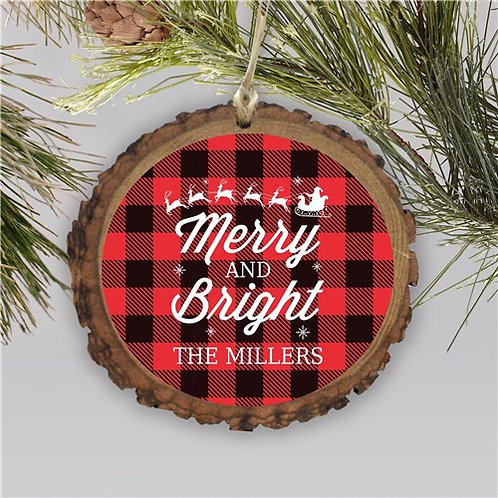 Personalized Merry and Bright Ornament