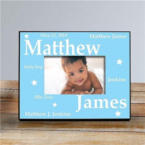 New Baby Boy Printed Frame
