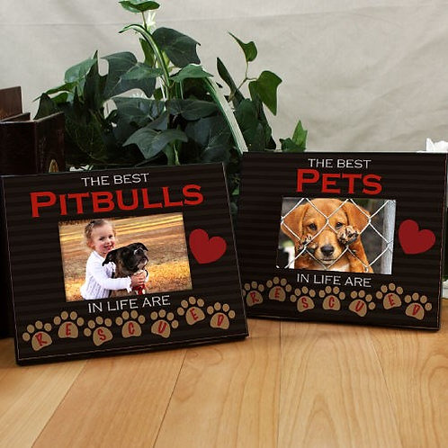 Personalized Best Pets Are Rescued Printed Frame