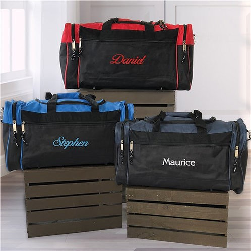 Embroidered Any Name Duffel Bag