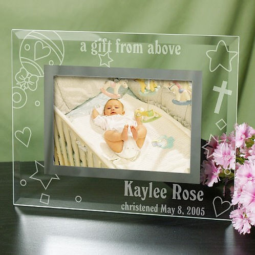 New Baby Glass Personalized Picture Frame