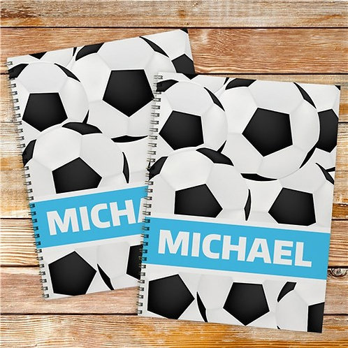 Personalized Soccer Notebook Set