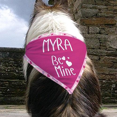Personalized Be Mine Dog Bandana