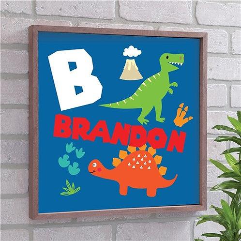 Personalized Kid's Dinosaur Wall Decor