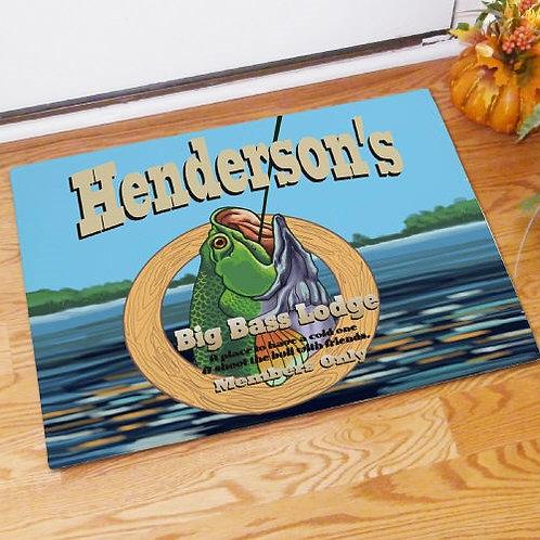 Personalized Big Bass Lodge Doormat