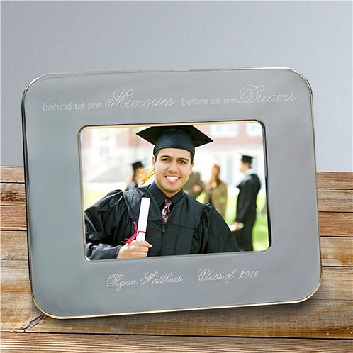 Engraved Graduation Silver Picture Frame