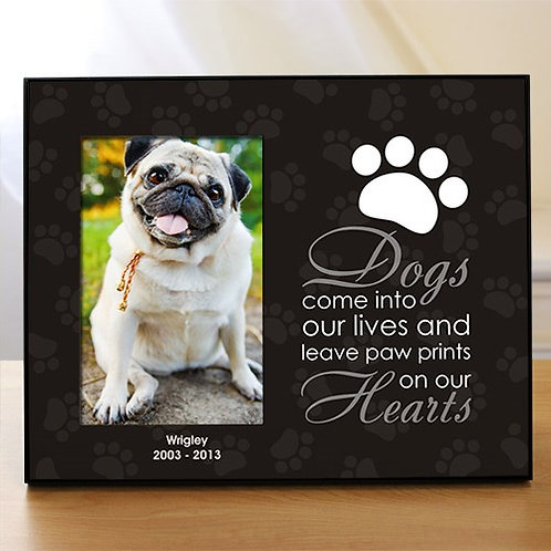 """Personalized """"Leave Paw Prints on our Heart"""" Pet Frame"""