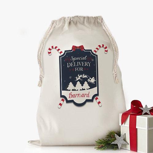 Custom Santa's Special Gift Christmas Drawstring Sack