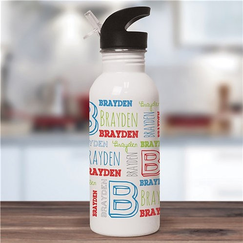 Personalized Kid's Name Water Bottle