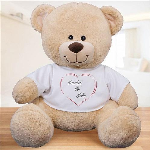 Personalized Heart Couple Teddy Bear