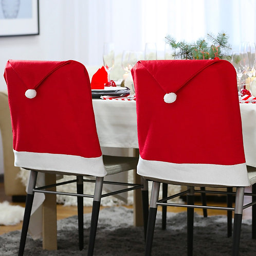 Not-Personalized Santa Hat Chair Cover