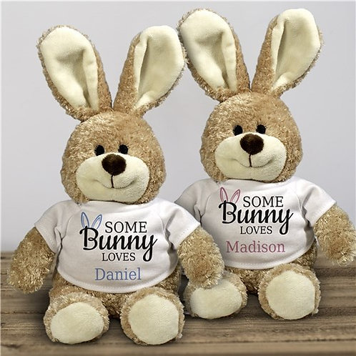 Somebunny Loves 12-Inch Personalized Stuffed Bunny