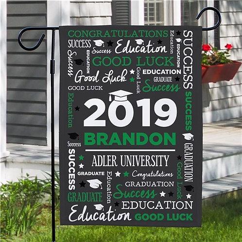 Personalized Word Art Graduation Garden Flag