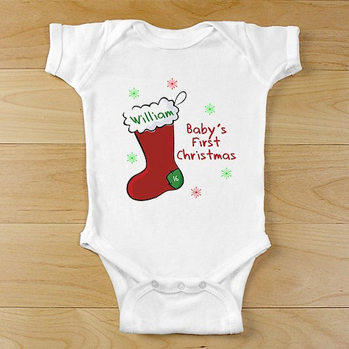 Personalized First Christmas Infant Apparel
