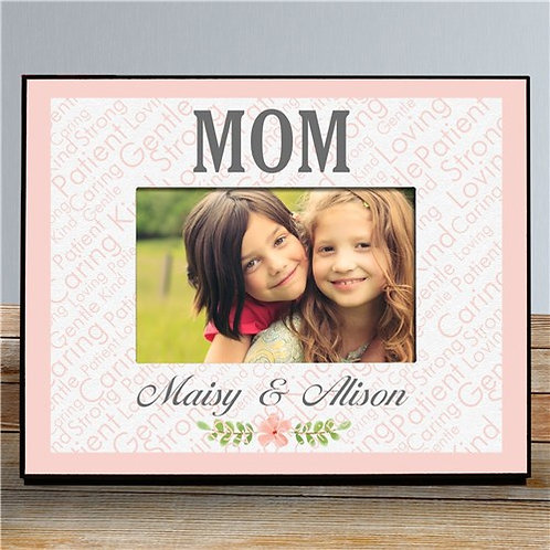 Personalized Word Art with Flowers Sublimated Frame
