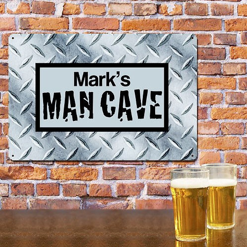 Personalized Man Cave Metal Sign