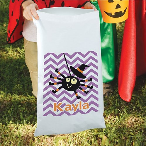 Halloween Girl Spider Candy Sack