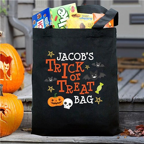 Personalized Trick Or Treat Pumpkin Bag