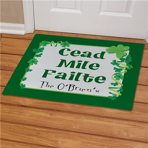 Irish House Blessing Personalized Doormat