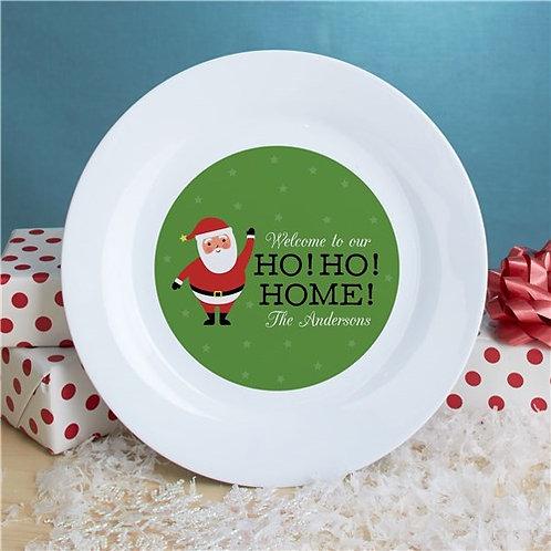Personalized Ho Ho Home Plate