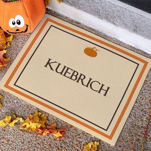 Family Name Fall Doormat