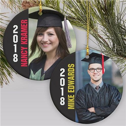 Personalized Photo Graduation Ornament
