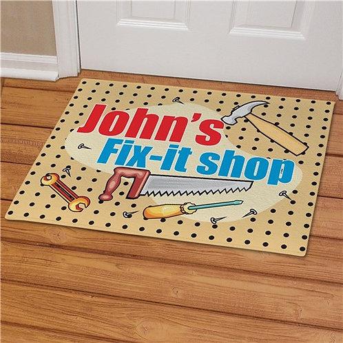 My Fix-It Shop Personalized Doormat