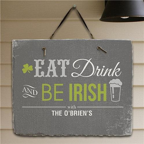 Personalized Irish Welcome Slate Plaque