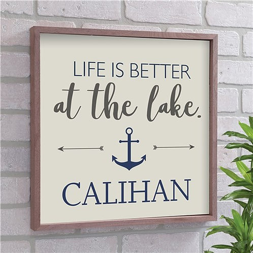 Personalized Life Is Better At The Lake Wood Pallet Sign