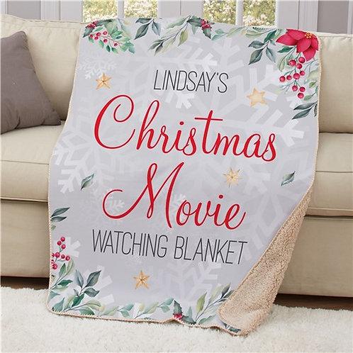 Personalized Christmas Movies Watching Blanket 50x60