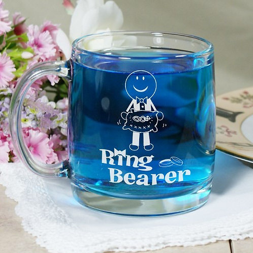 Personalized Ring Bearer Glass Mug