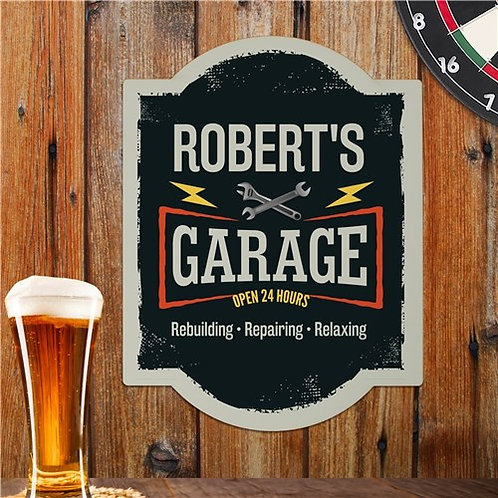 Personalized Garage Wall Sign