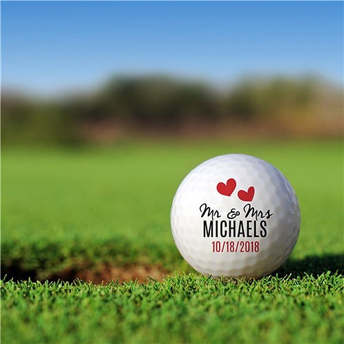 Personalized Mr. and Mrs. Golf Ball Set