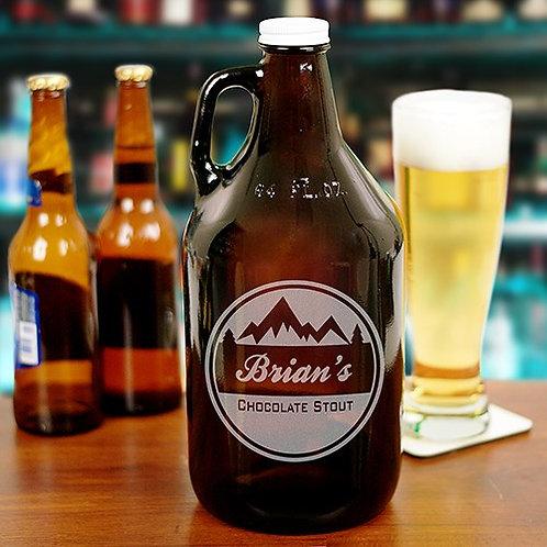 Engraved Mountain Beer Growler