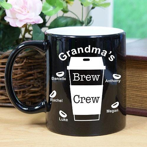 Engraved Brew Crew Two-Tone Mug