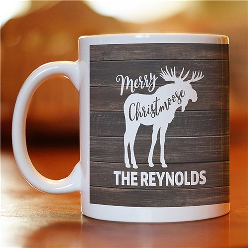 Personalized Merry Christmoose Mug