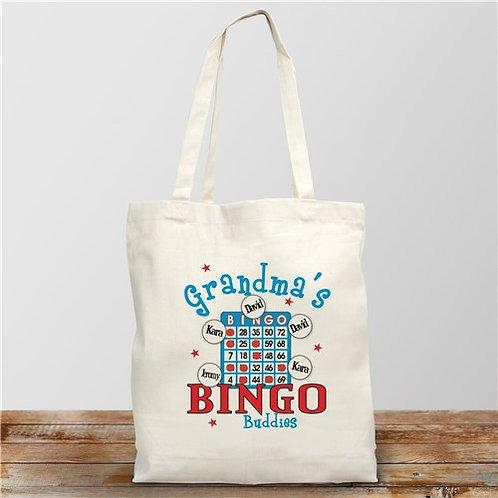 Bingo Personalized Canvas Tote Bag
