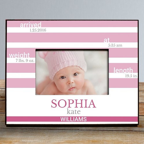 New Baby Personalized Picture Frame