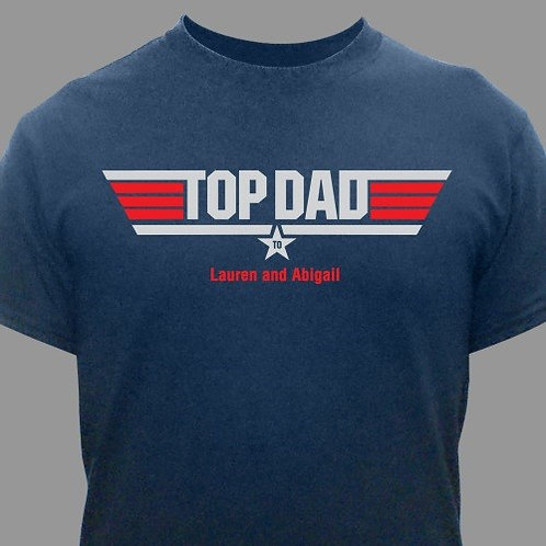 Top Dad Personalized T-Shirt